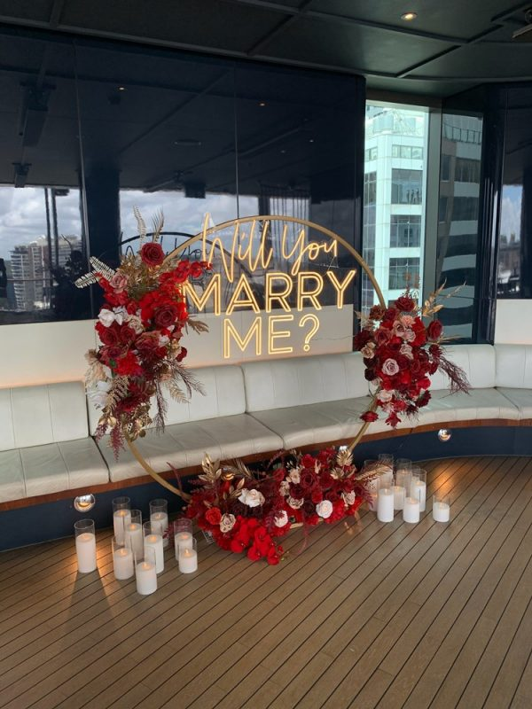 'Will You Marry Me' Sign